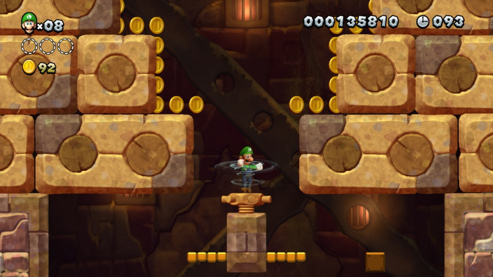Remember the tower with the screw gimmick from  New Super Mario Bros. U ? It's still the tower with the screw gimmick, just with a different level layout.
