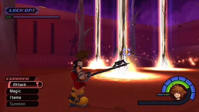 Sora against the infamous Sephiroth