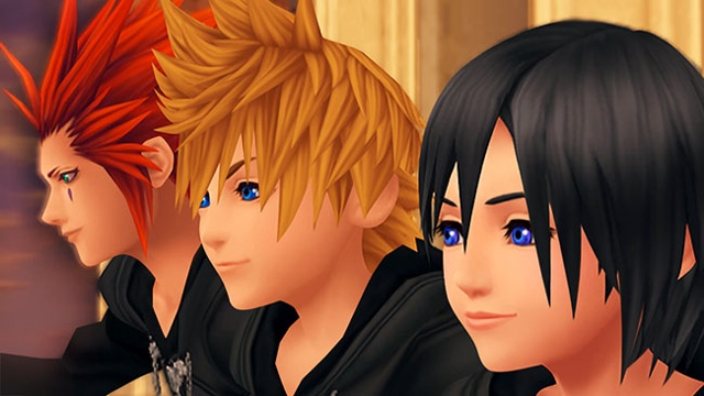 Axel, Roxas and Xion over looking The World That Never Was