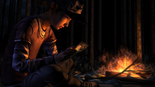 Clem alone by the fire.