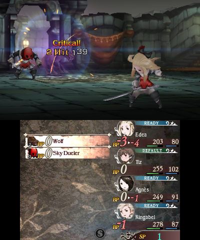 Edea getting a critical on the wolf