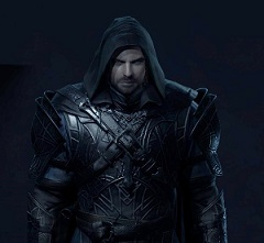 He is vengeance. He is the night. He is Talion.