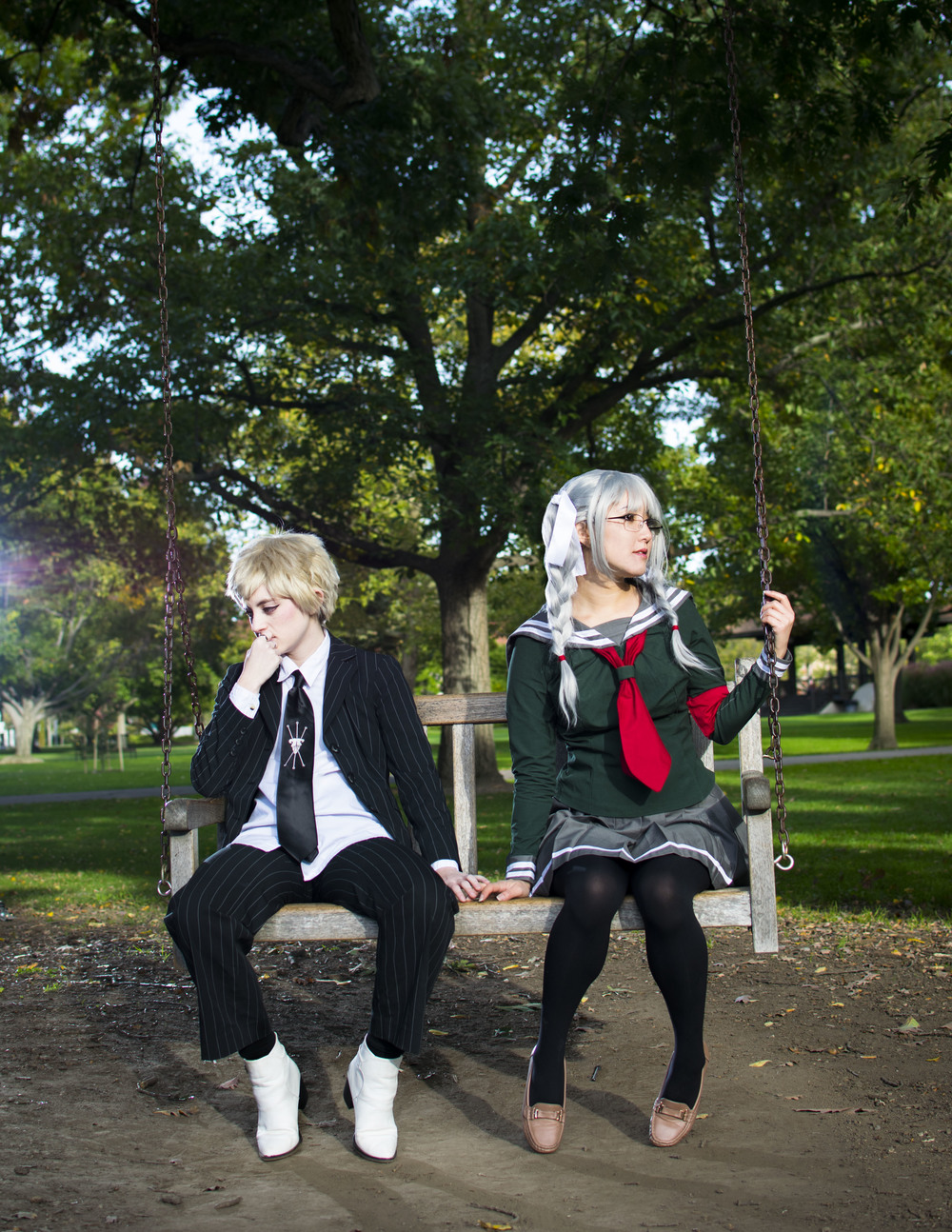 My absolute favorite photo of Lemley and myself as Fuyuhiko Kuzuryuu and Peko Pekoyama from SDR2!