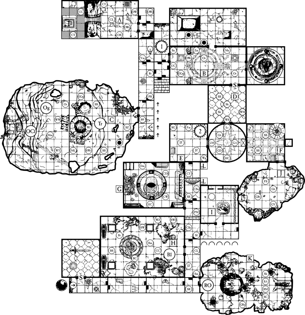 Playable map as can be found on the Old scratch heroquest forums