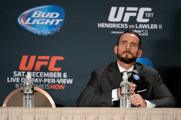 Pictured here: CM Punk (right) and his opponent for his UFC fight (left)