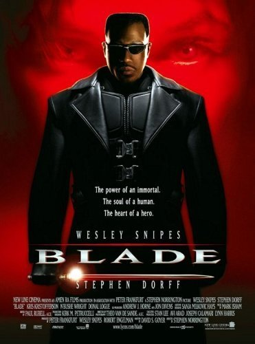 Blade is one of the few African American heroes in Comic Book cinema. And he does really well. Also, Ryan Reynolds shows up and tries to make it all about him...that will be a trend in comic book movies.