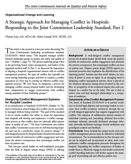 A Strategic Approach for Managing Conflict- Part 2