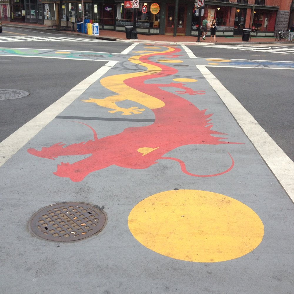 Chinatown Dragon Crosswalk