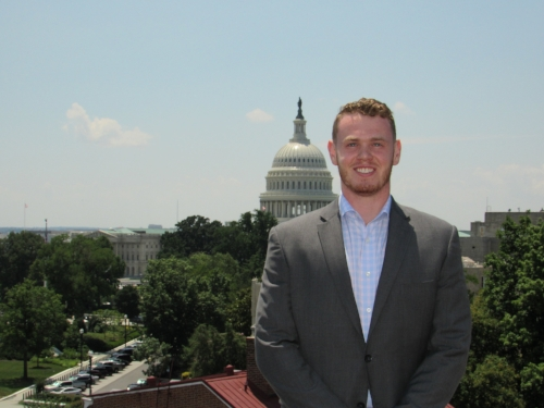 Ryan Shea '19 intern with the VFW's National Legislative Services Office