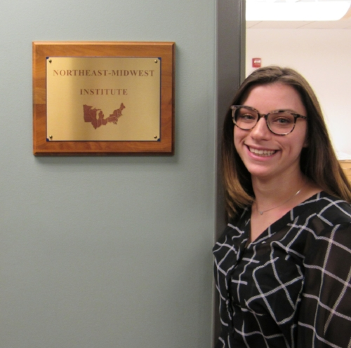 Alexandra Nigro '18 intern at northeast-midwest institute