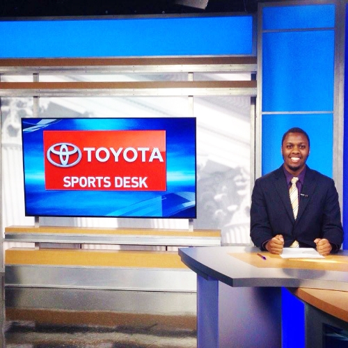 Richard Damas '17, intern at WJLA-TV ABC7 News