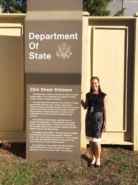 Christine Kozlowski '16, Intern at the us Department of State