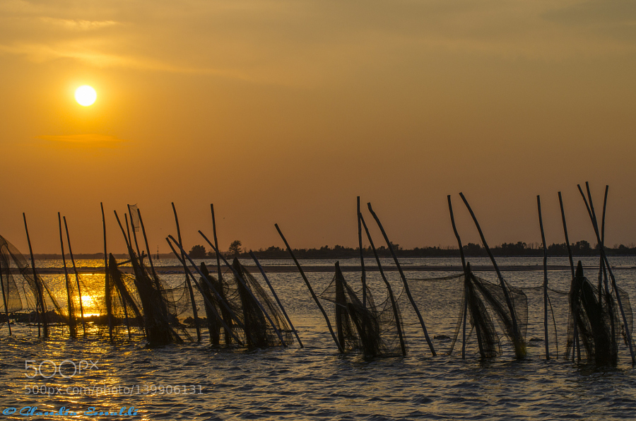 Sunset on the lagoon