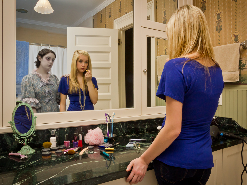 Ashley Getting Ready to Go Out, archival digital pigment print, 30x40""