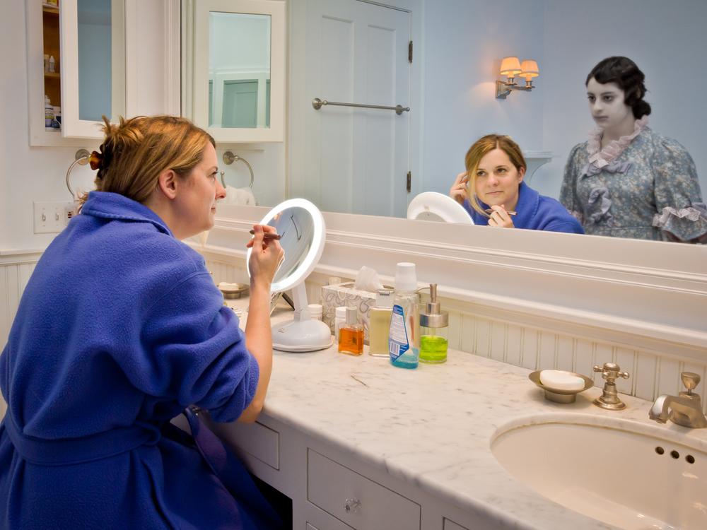 "Sarah in the Bathroom, archival digital pigment print, 30x40"""