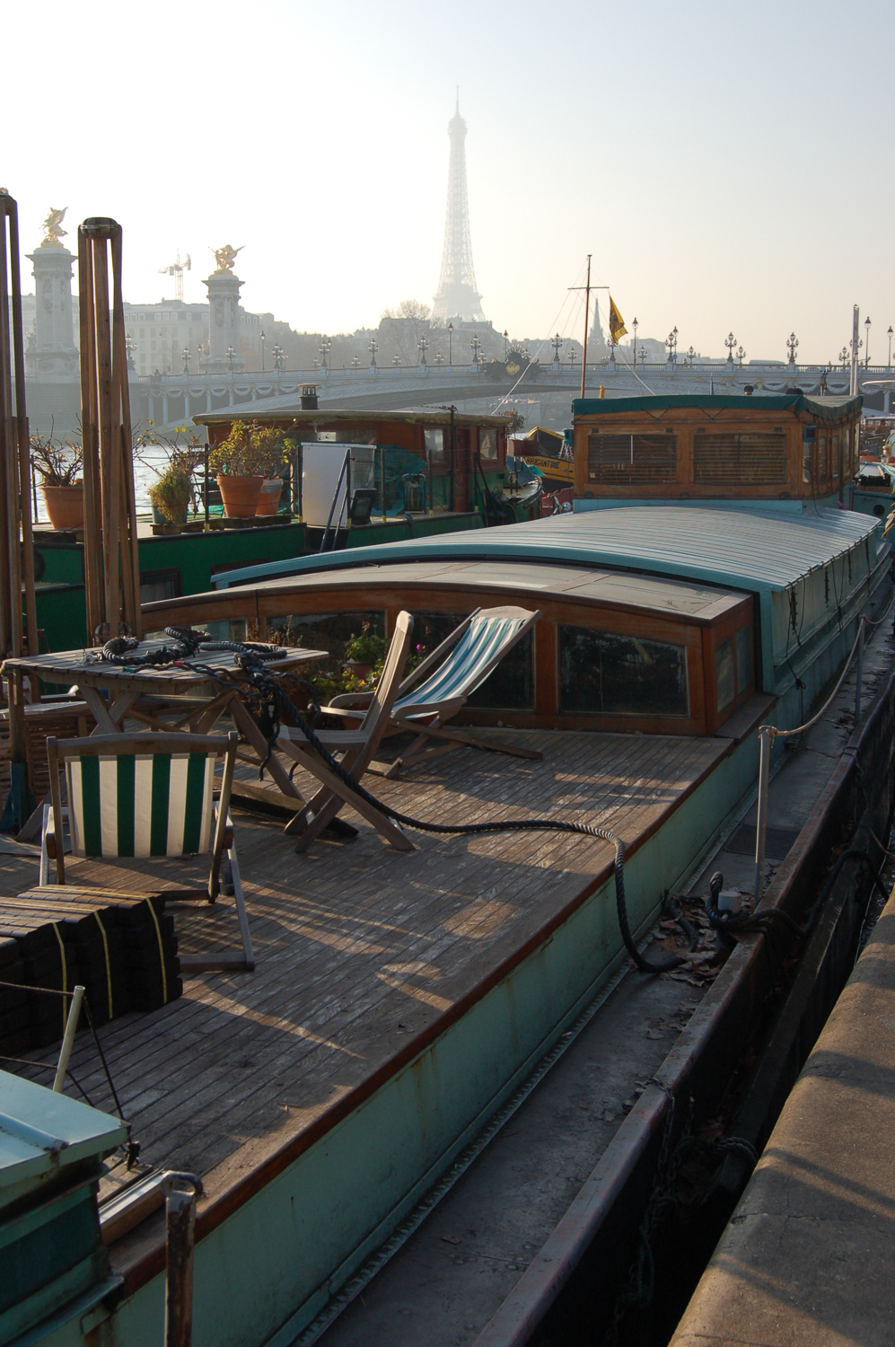 Houseboat, River Seine, Paris