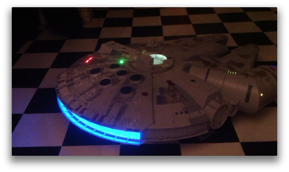 The Falcon with additional lighting