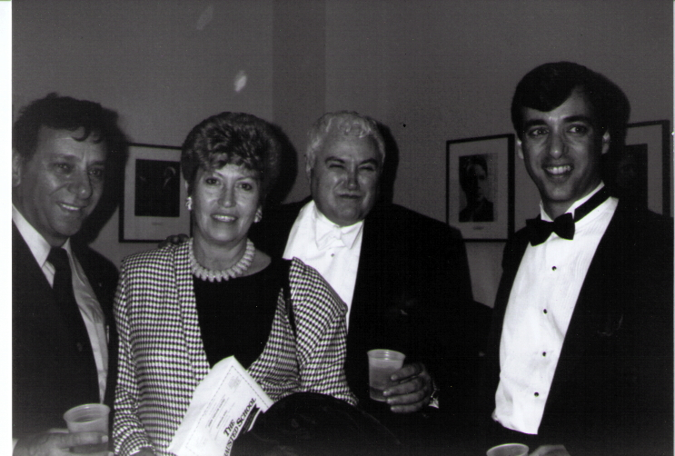 My dad, mom, John Gatto, and me (Pat Farenga) in John Gatto's dressing room after  The Exhausted School  event at Carnegie Hall.
