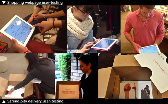 The user testing was conducted in Nordstrom department store Palo Alto and in private apartment.