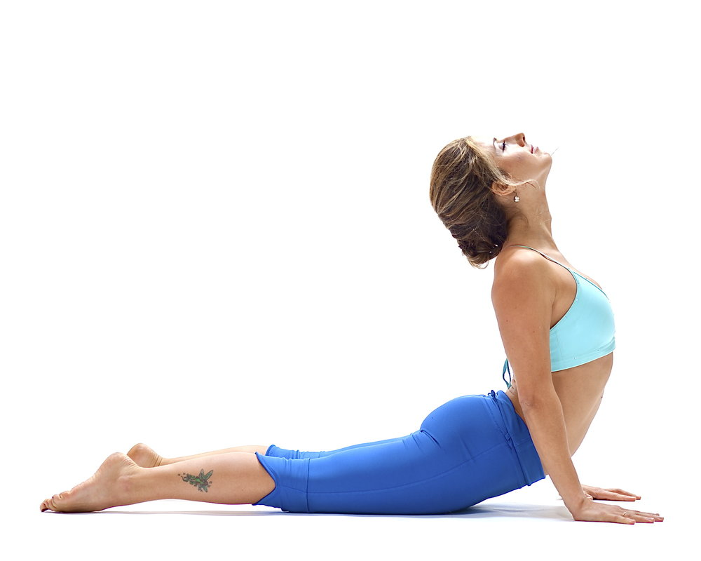 The Cobra pose from Yoga