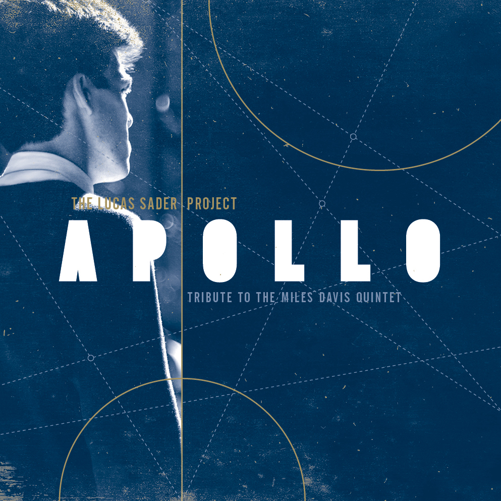"Cover for The Lucas Sader Project's debut album, ""Apollo: Tribute to the Miles Davis Quintet"". Designed by John Funk at Underscorefunk Design."