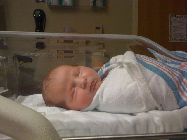 """Glenn August... Arrived at 8:00pm, Thursday night at 9lbs, 3ozs and 21.5"""" Love."""