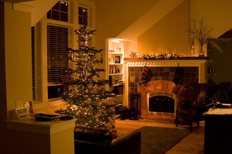 Christmas in the new house...
