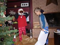Christmas morning, 2005.