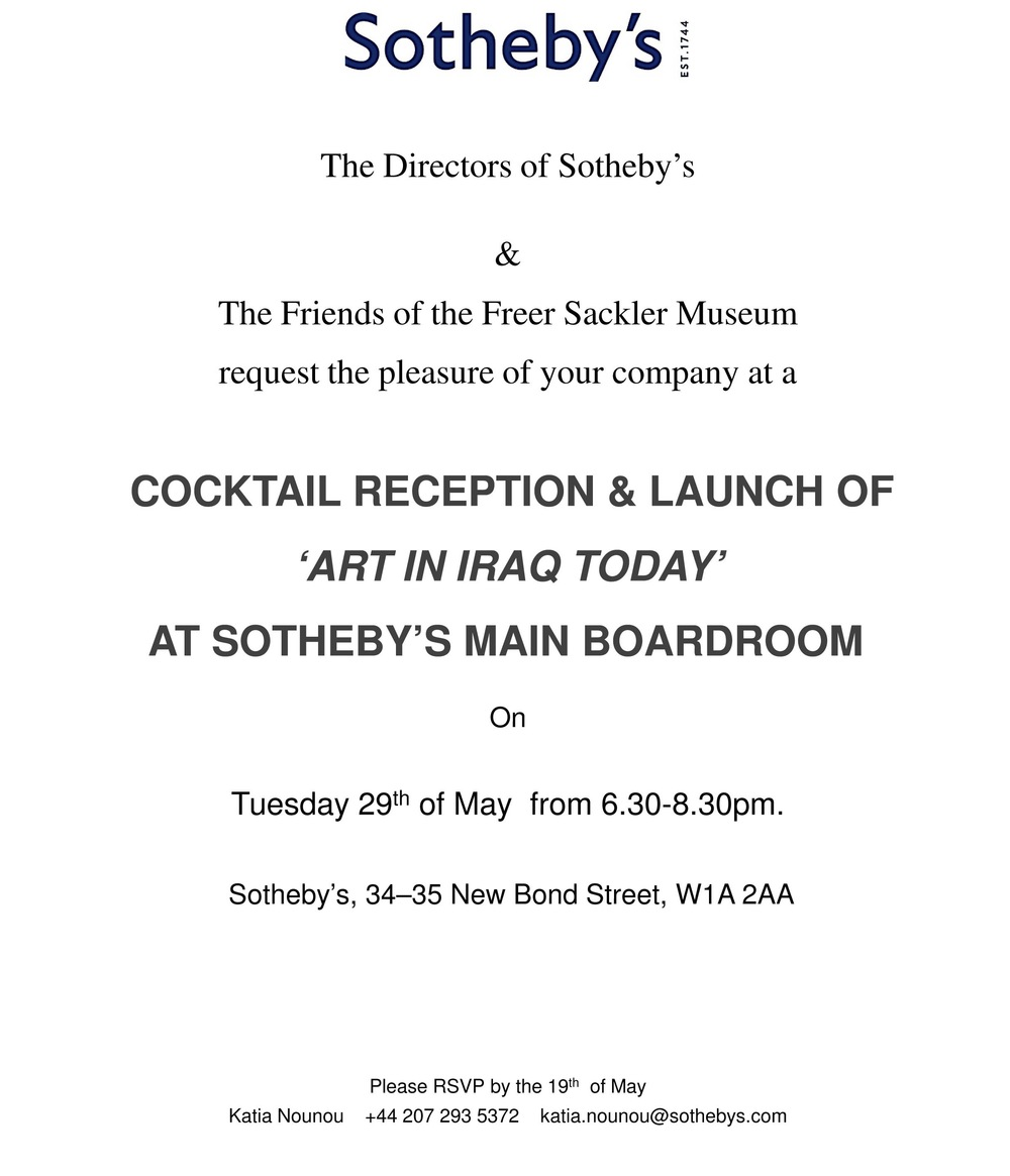 Sotheby's Boadroom Cocktail Reception for 'Art in Iraq Today'.jpg