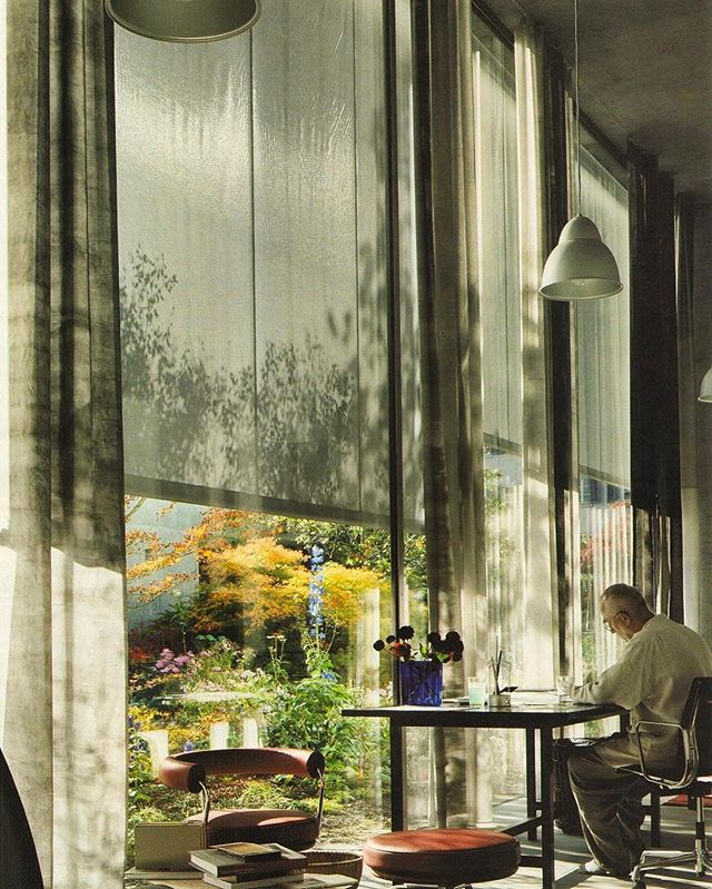 Architect Peter Zumthor in his home