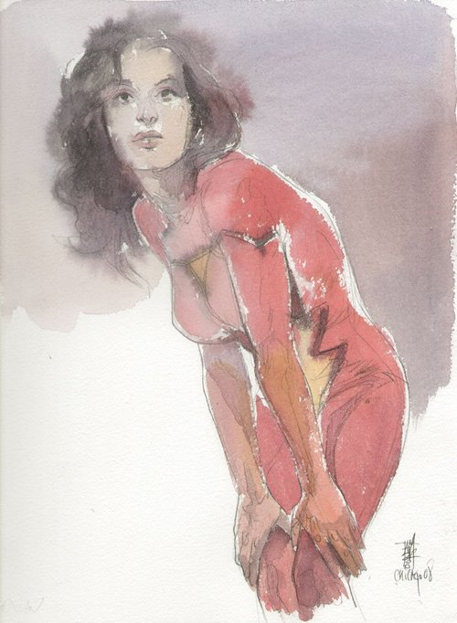Spider-Woman commission by Alex Maleev