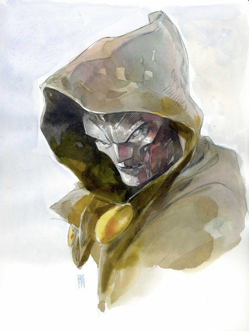 Doctor Doom pin-up by Alex Maleev