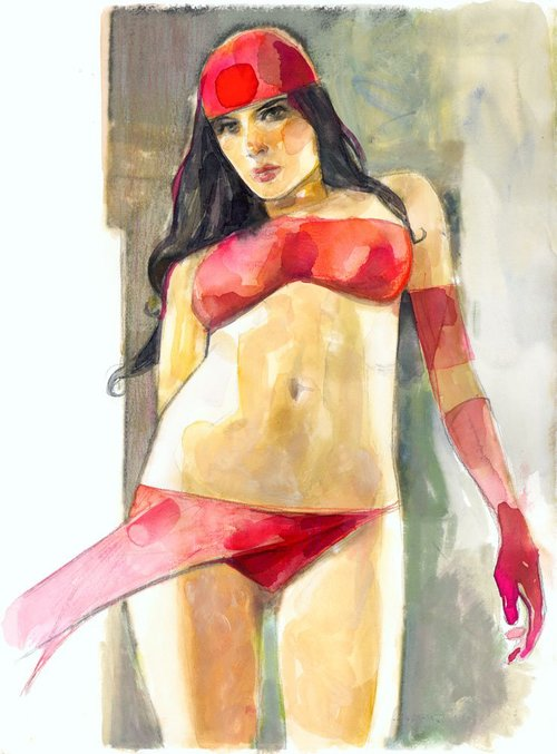 Elektra commission by Alex Maleev