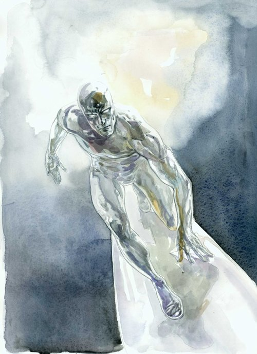 Silver Surfer commission by Alex Maleev
