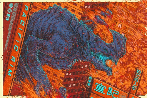 Pacific Rim Kaiju variant poster by Ash Thorp