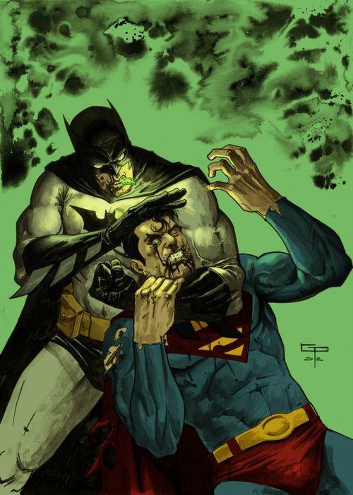 Superman and Batman by Germán Peralta