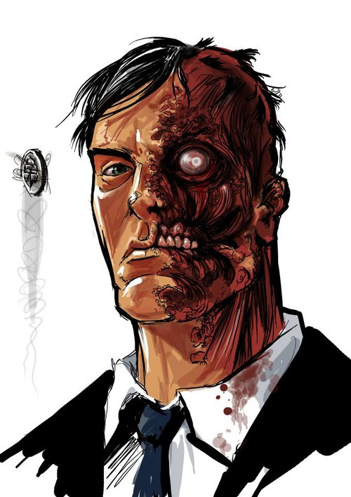 Two-Face by Germán Peralta
