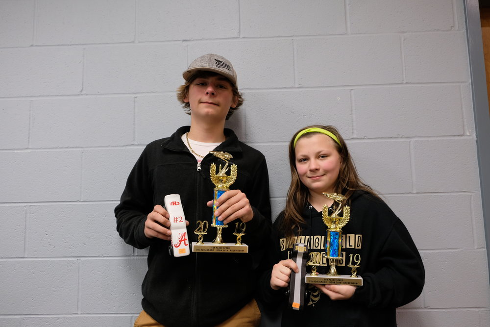 Derby Winners 7th - 12th Grades J.D. Hulset, Oakland and Rachel Hulset, Oakland
