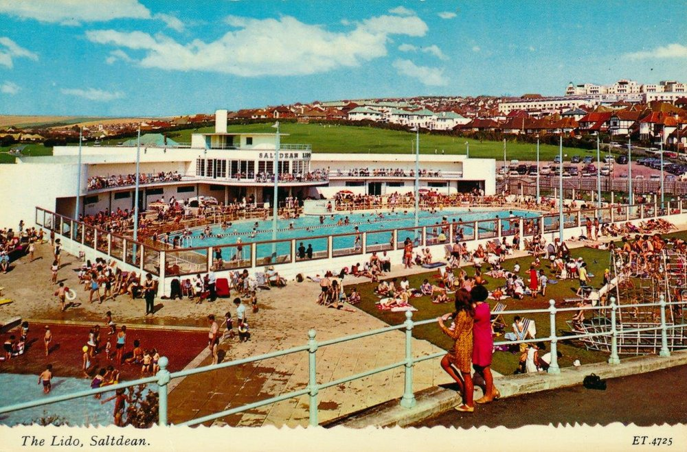 Circa 1964, when Saltdean Lido re-opened its doors after a restoration by Brighton County Council. The reinvented lido provided the perfect playground for holidaymakers and thrill seekers during the swinging 60s, and decades to come.