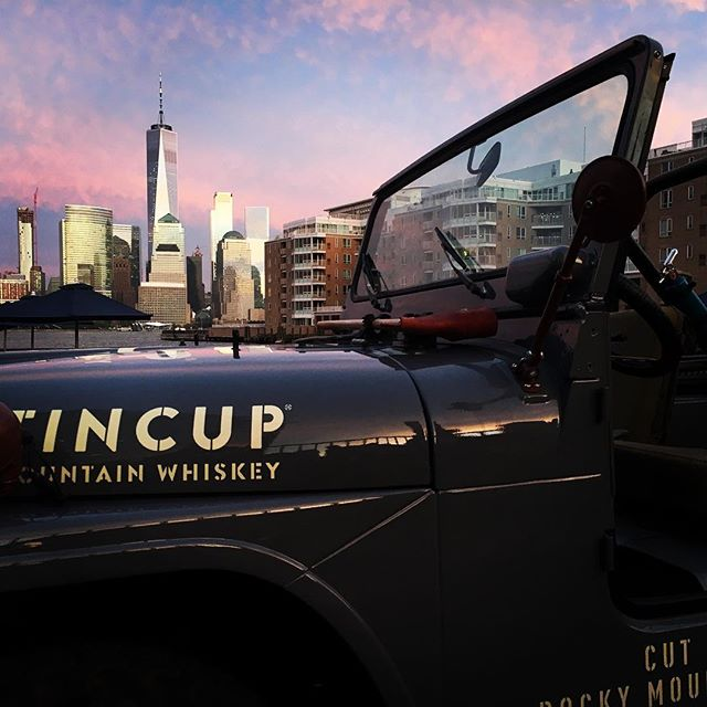 TINCUP jeep in Hoboken with the Freedom Tower behind it. NYC is just a different type of pretty.
