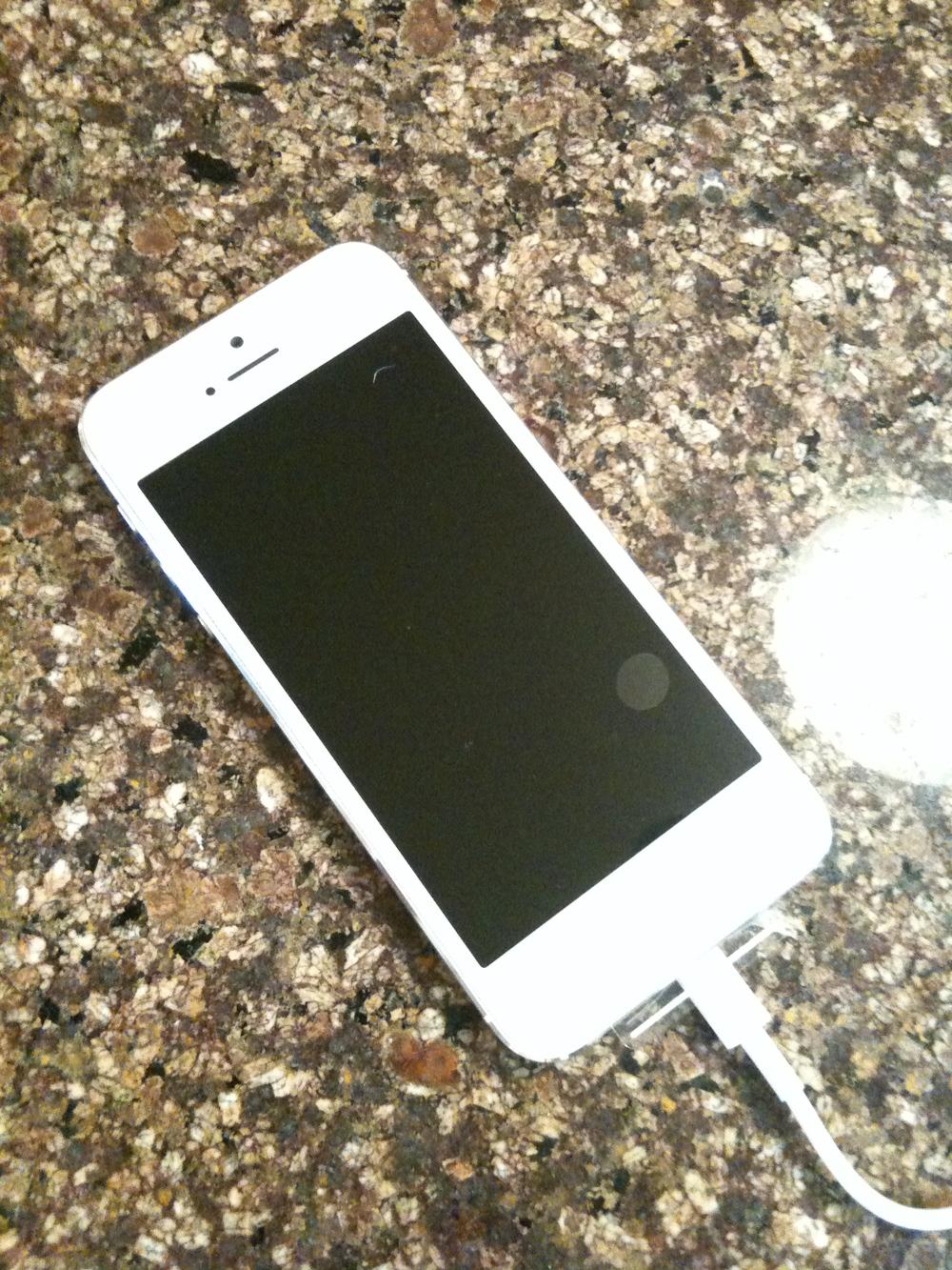 mom's new iphone!