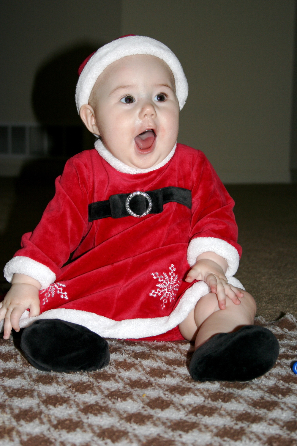 2008 - A Christmas picture of Audrey.