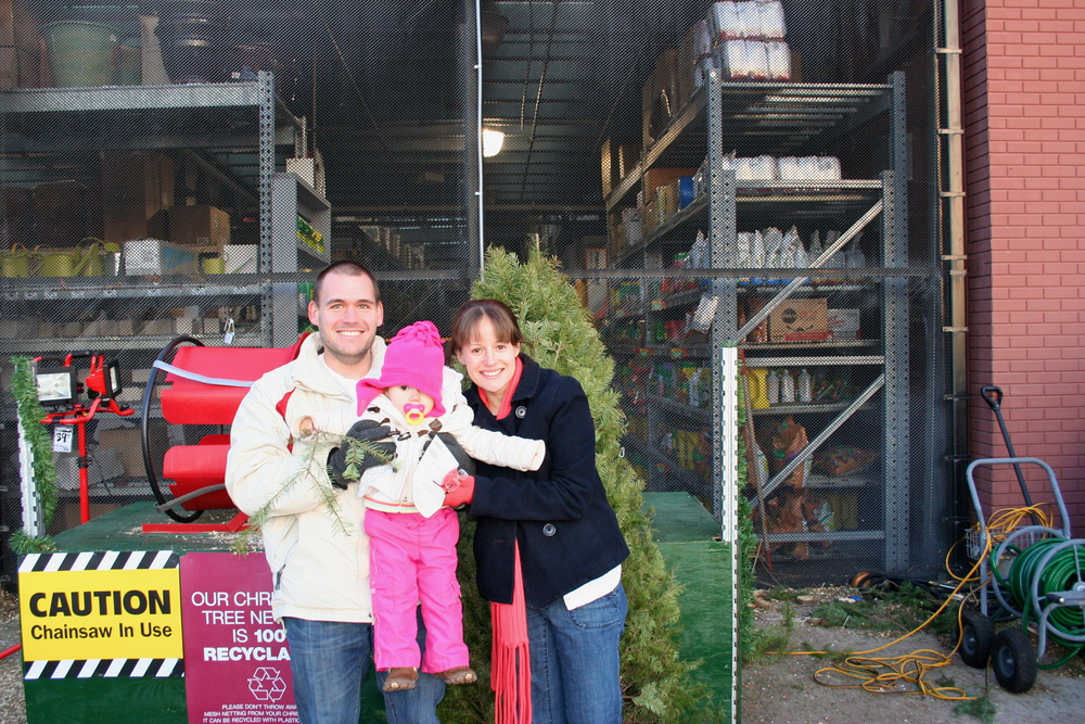 2009 - Not sure what we did for Christmas cards this year either and the only family photo I could find was in front of Home Depot, picking out our tree!