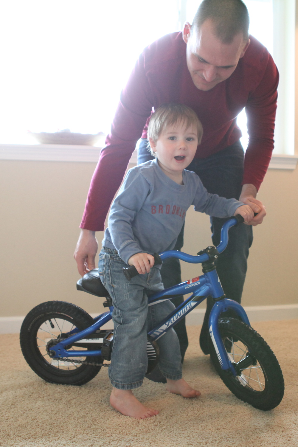 first bike with peddles.