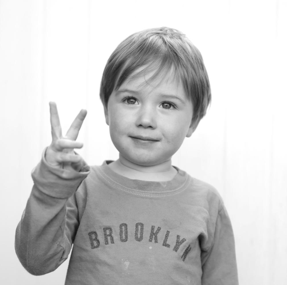 three years old.