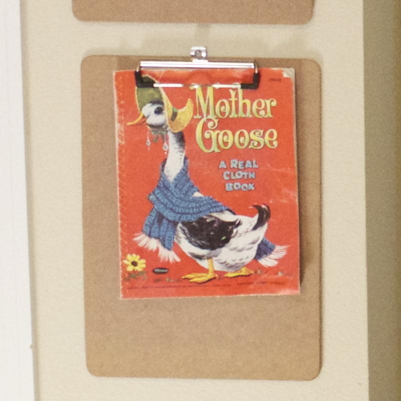 a vintage, Mother Goose, linen cloth book.