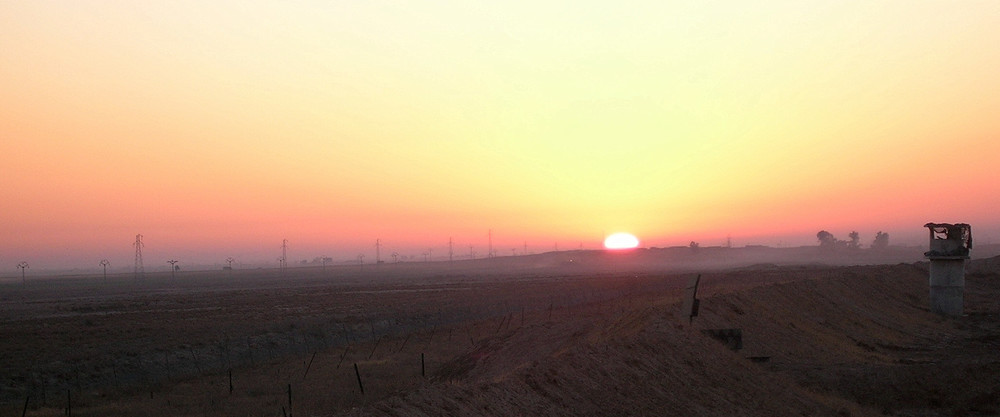 The image for the cover was taken at dawn just outside of FOB McHenry near Kirkurk, Iraq.