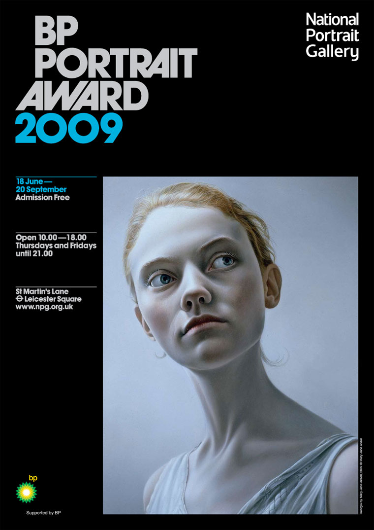 Poster for BP Portrait Award 2009