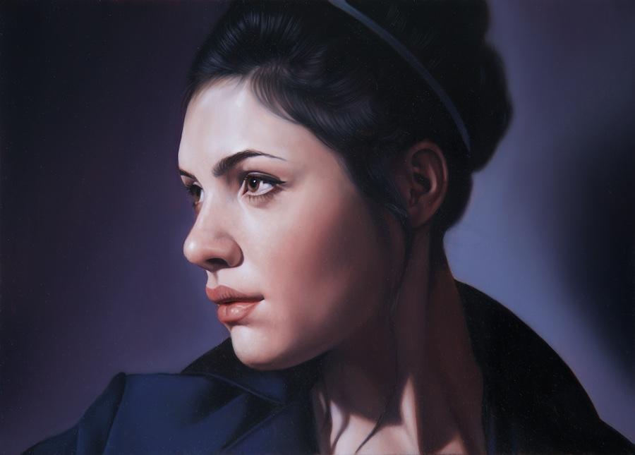 Belle De Nuit II   8 1/2 x 12 inches,   Oil on aluminium panel