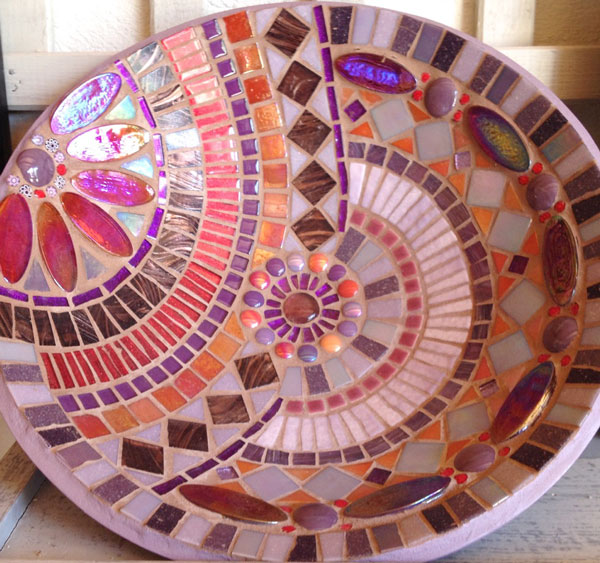 Mosaic bowl by Valerie Nicoladze, Esprit Mosaique Studio